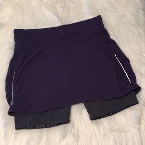 Athleta Contender 2 in 1 purple/gray skort Small